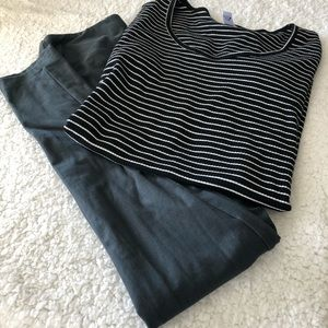 GUC LuLaRoe Bundle Top Size Small and Leggings OS